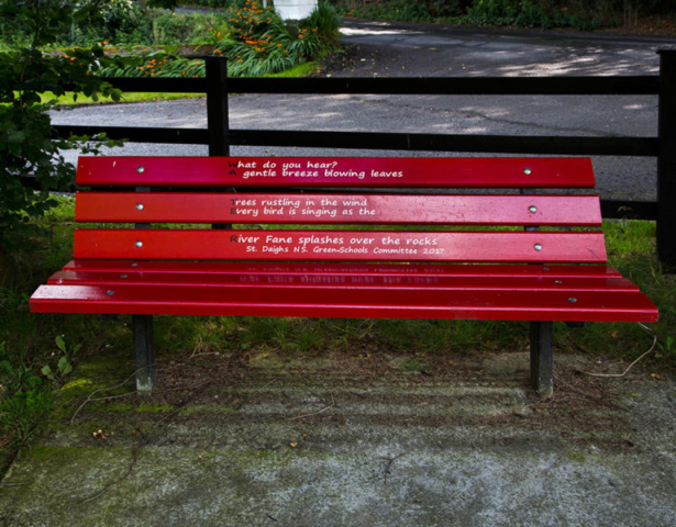 Bench beside Gleneven House